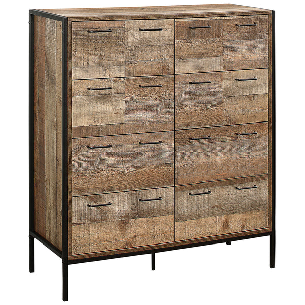 Rustic Finish Chest of 12 Drawers