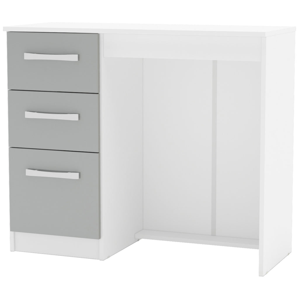 High Gloss White & Grey Dressing Table