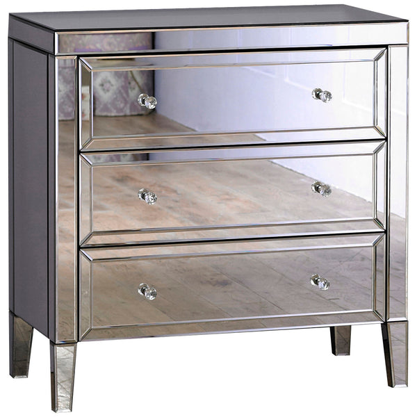Mirrored Chest of 3 Drawers