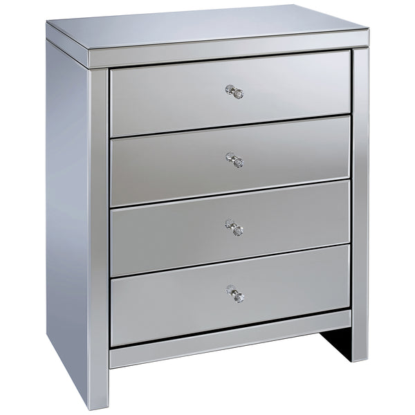 Mirrored Chest of 4 Drawers