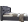 Grey Velvet Bed Frame