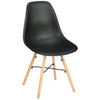 2x Plastic & Wood Dining Chairs