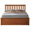 Oak Finish Storage Bed