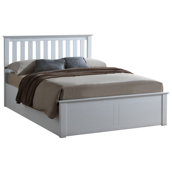 White Finish Storage Bed