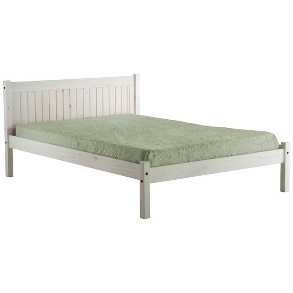 White Washed Finish Bed Frame