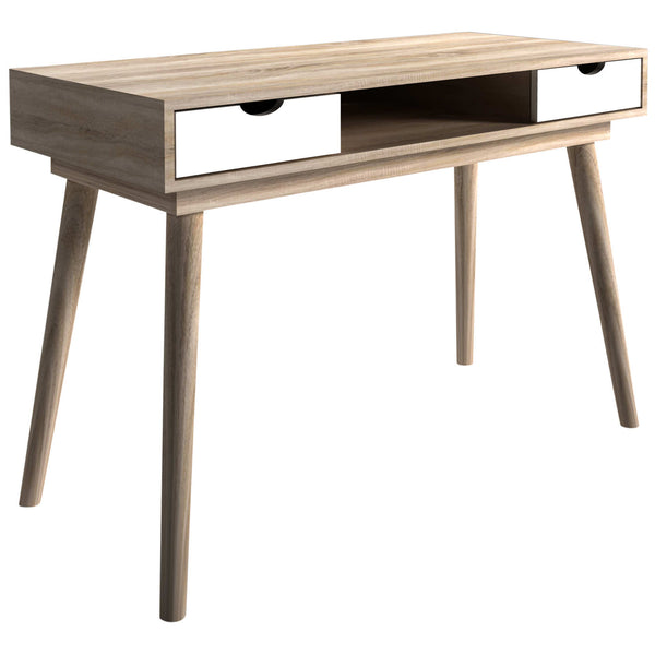 Oak & White Finish Study Desk