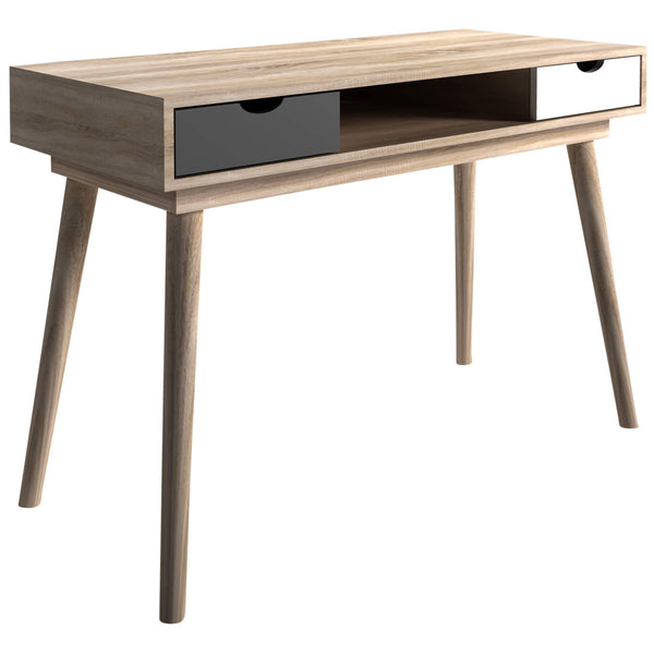 Oak, Grey & White Finish Study Desk