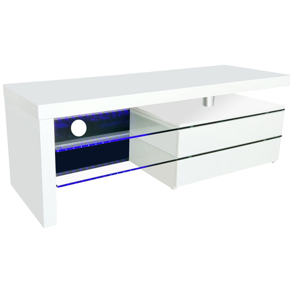 High Gloss White Finish TV Unit