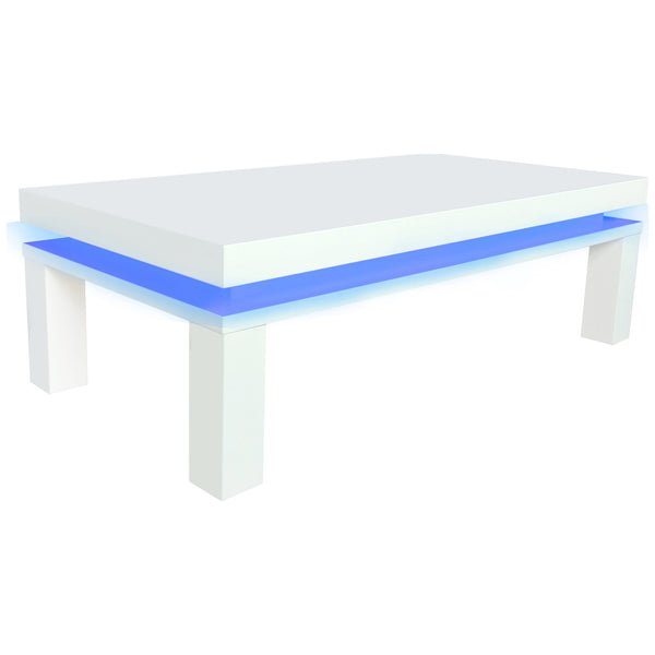 High Gloss White Finish Coffee Table