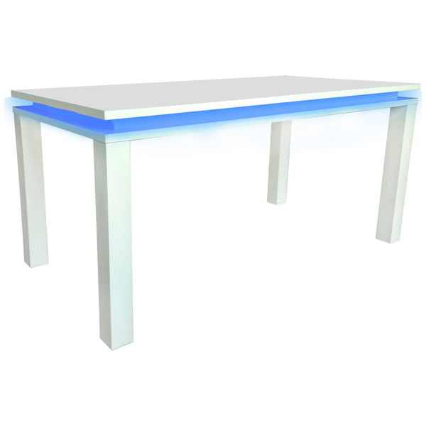High Gloss White Finish Dining Table