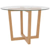 Oak & Glass Dining Table