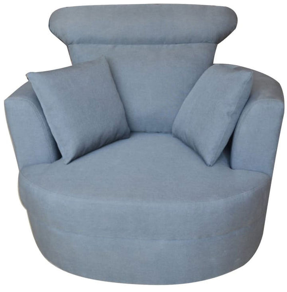 Grey Fabric Armchair