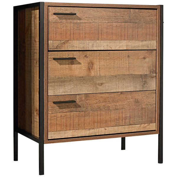 Wood Effect Chest of 3 Drawers