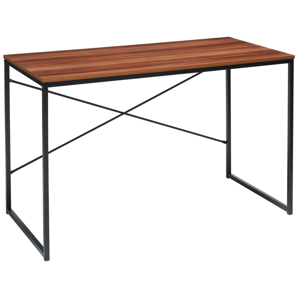 Black & Wooden Effect Study Desk