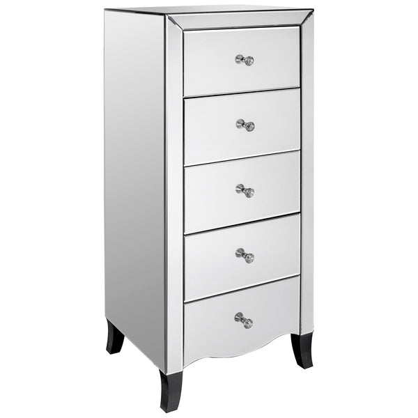 Mirrored Chest of 5 Drawers