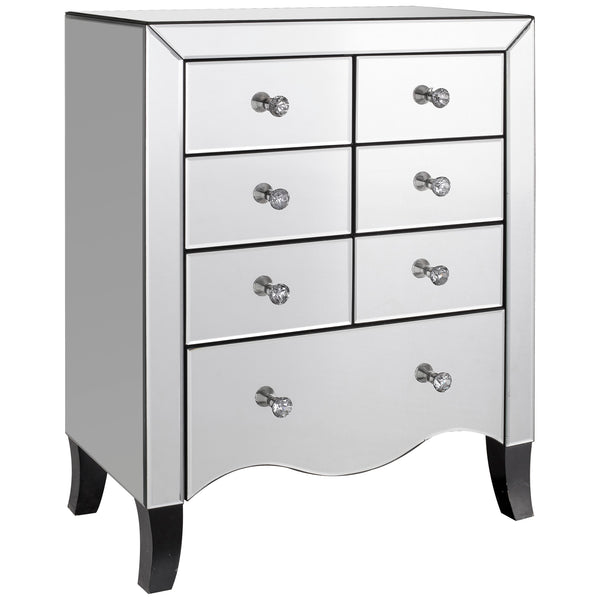 Mirrored Chest of 7 Drawers