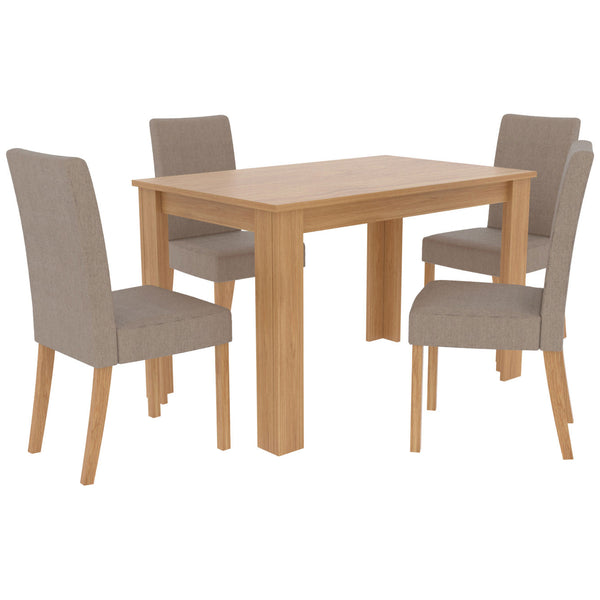 Oak Effect Dining Set