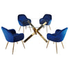 Glass & Gold Metal Dining Set