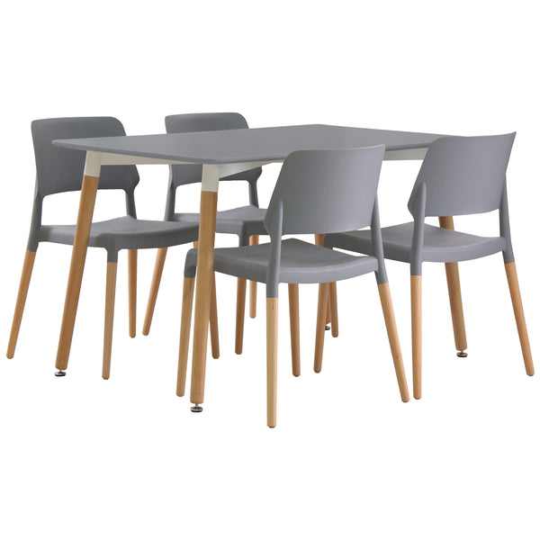 Grey Finish Dining Set