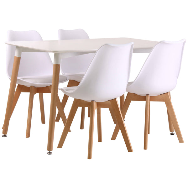 White Finish Dining Set