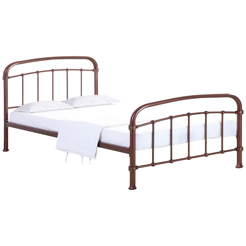 Copper Effect Paint Finish Bed Frame