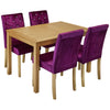 Real Ash Veneer & Oak Stain Finish Dining Set