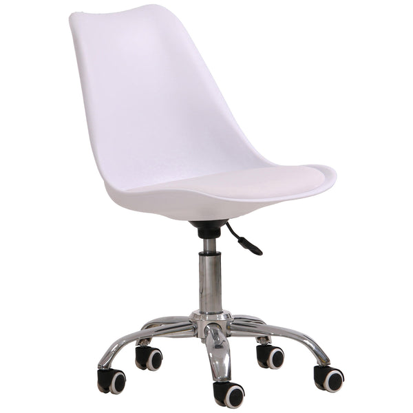 Plastic & Faux Leather Office Swivel Chair