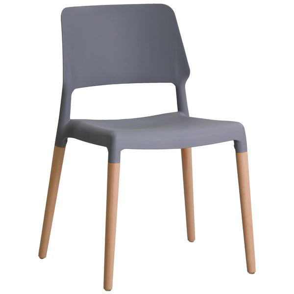 2x Plastic Dining Chairs