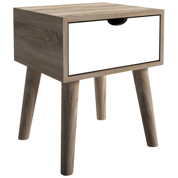 Oak Finish Side Table