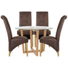 Oak & Glass Dining Set