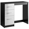 High Gloss Black & White Dressing Table