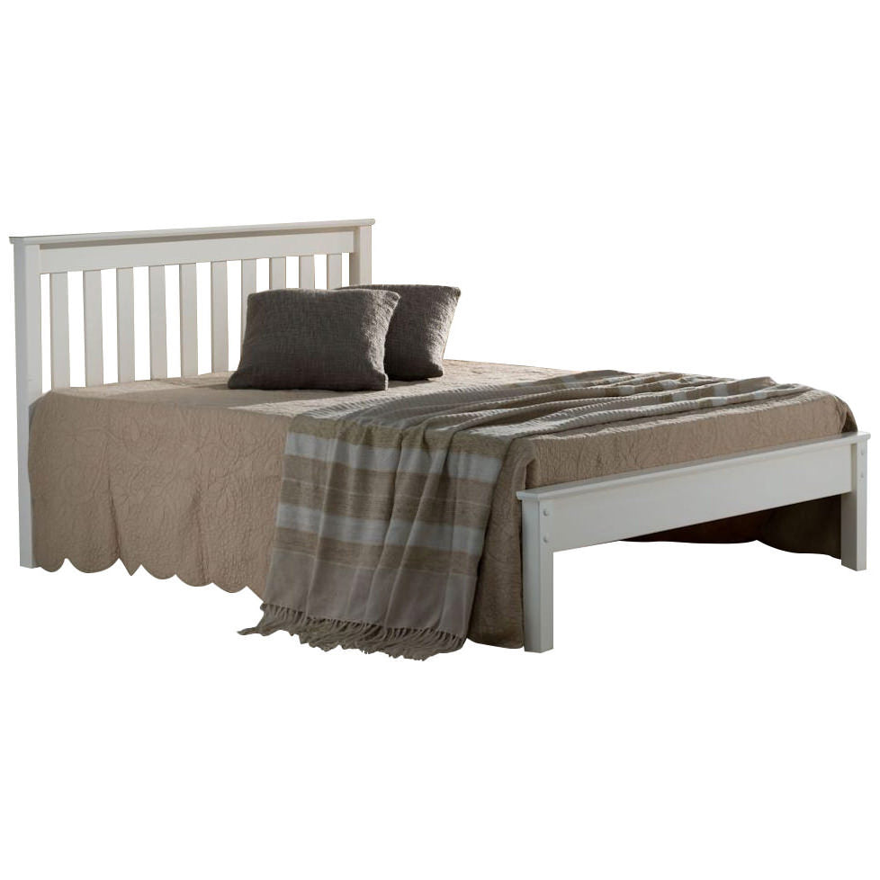Ivory Finish Bed Frame