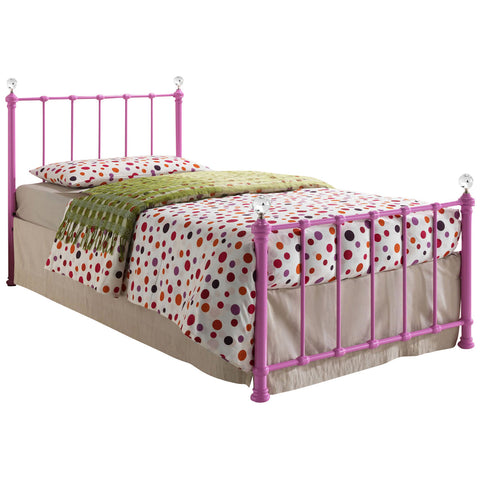 Painted Finish Metal Childrens Bed