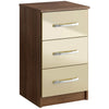 Walnut & High Gloss Finish Bedside Cabinet