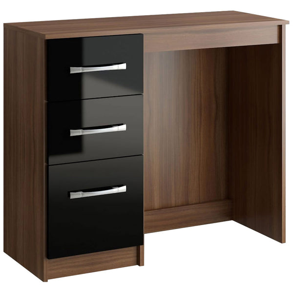 Walnut & High Gloss Finish Dressing Table
