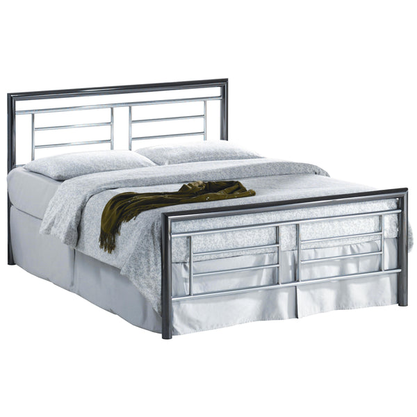 Chrome & Nickel Bed Frame
