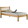 Antique Finish Pine Bed Frame