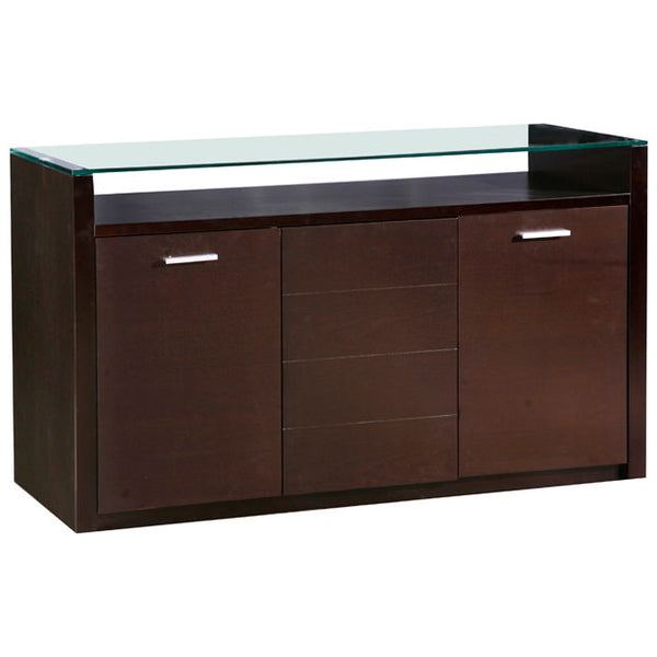 Dark Walnut Finish Sideboard