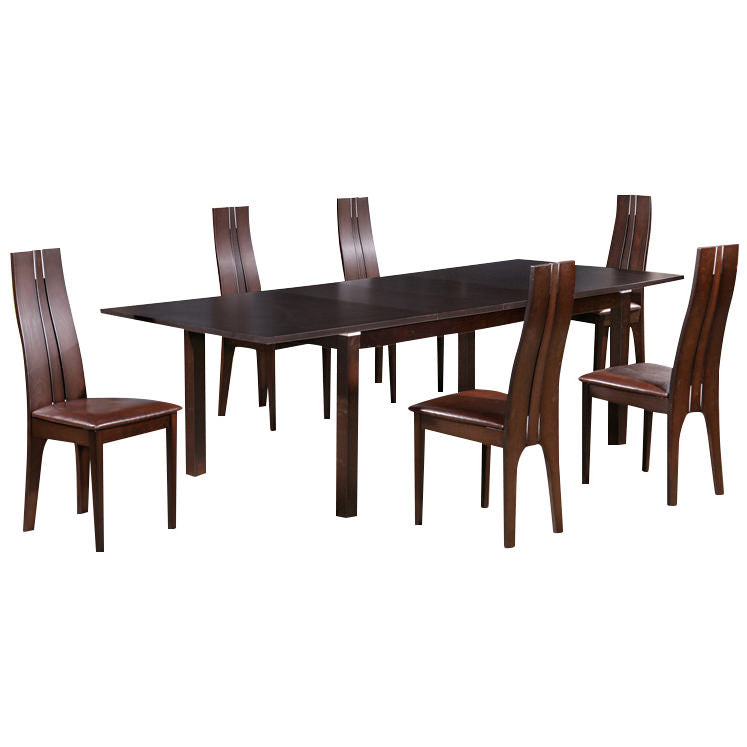 Dark Walnut Finish Extending Dining Set