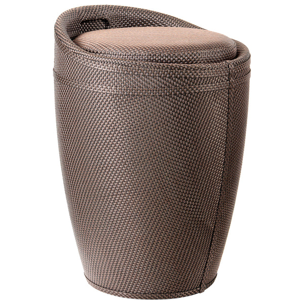 Brown Fabric Storage Stool