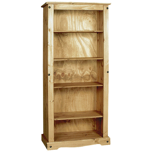 Light Waxed Finish Solid Pine Bookcase