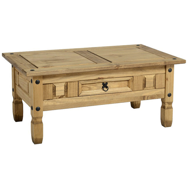 Light Waxed Finish Solid Pine Coffee Table