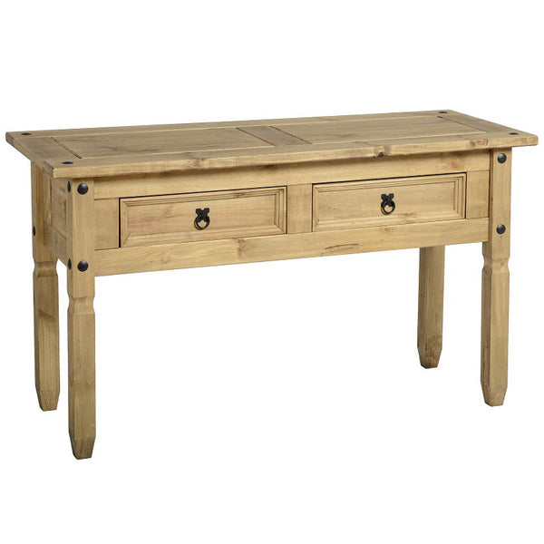 Light Waxed Finish Solid Pine Console Table