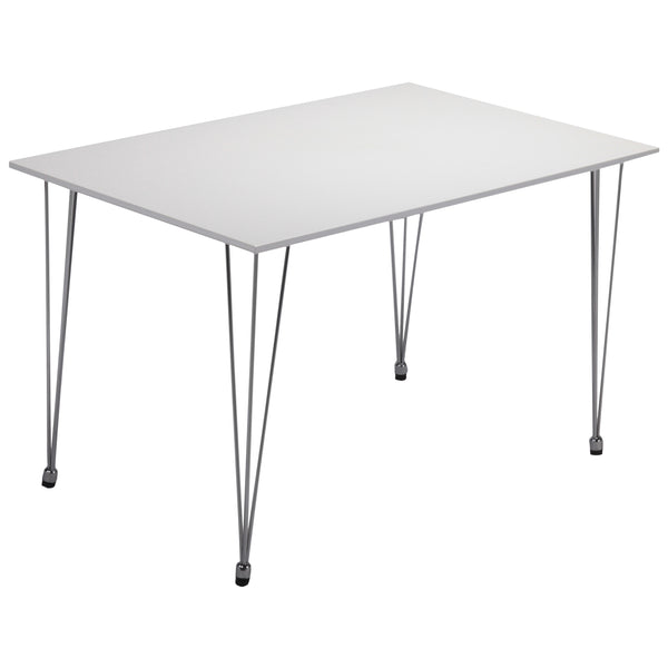 High Gloss White & Chrome Dining Table