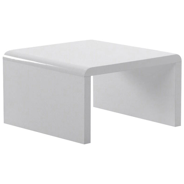 High Gloss White Side Table