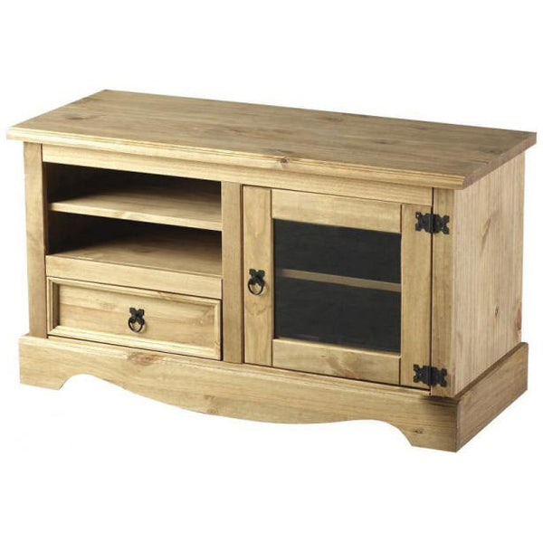 Light Waxed Finish Solid Pine TV Unit
