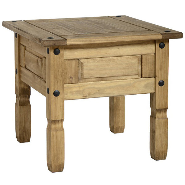 Light Waxed Finish Solid Pine Side Table