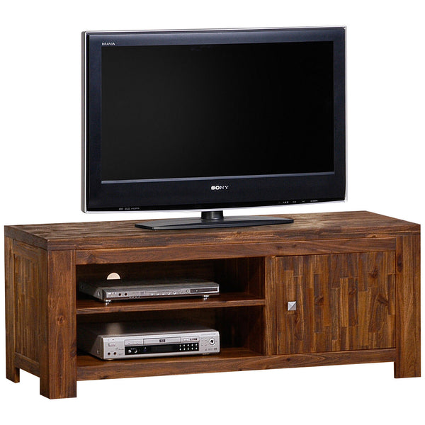 Sand Blasted Solid Acacia TV Unit
