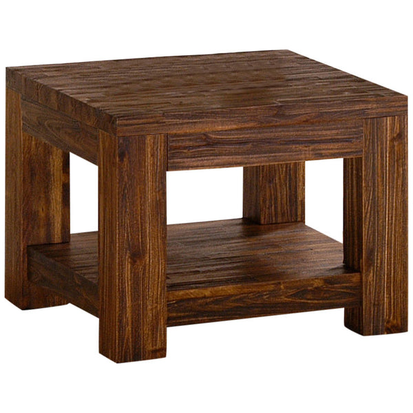 Sand Blasted Solid Acacia Side Table
