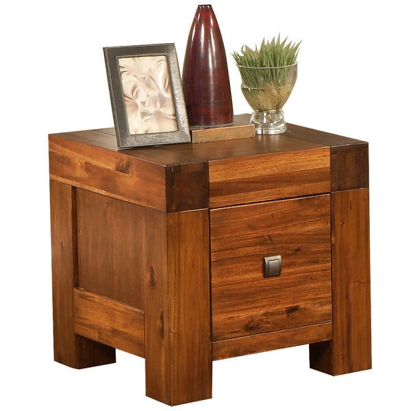 Solid Acacia & Veneer Side Table